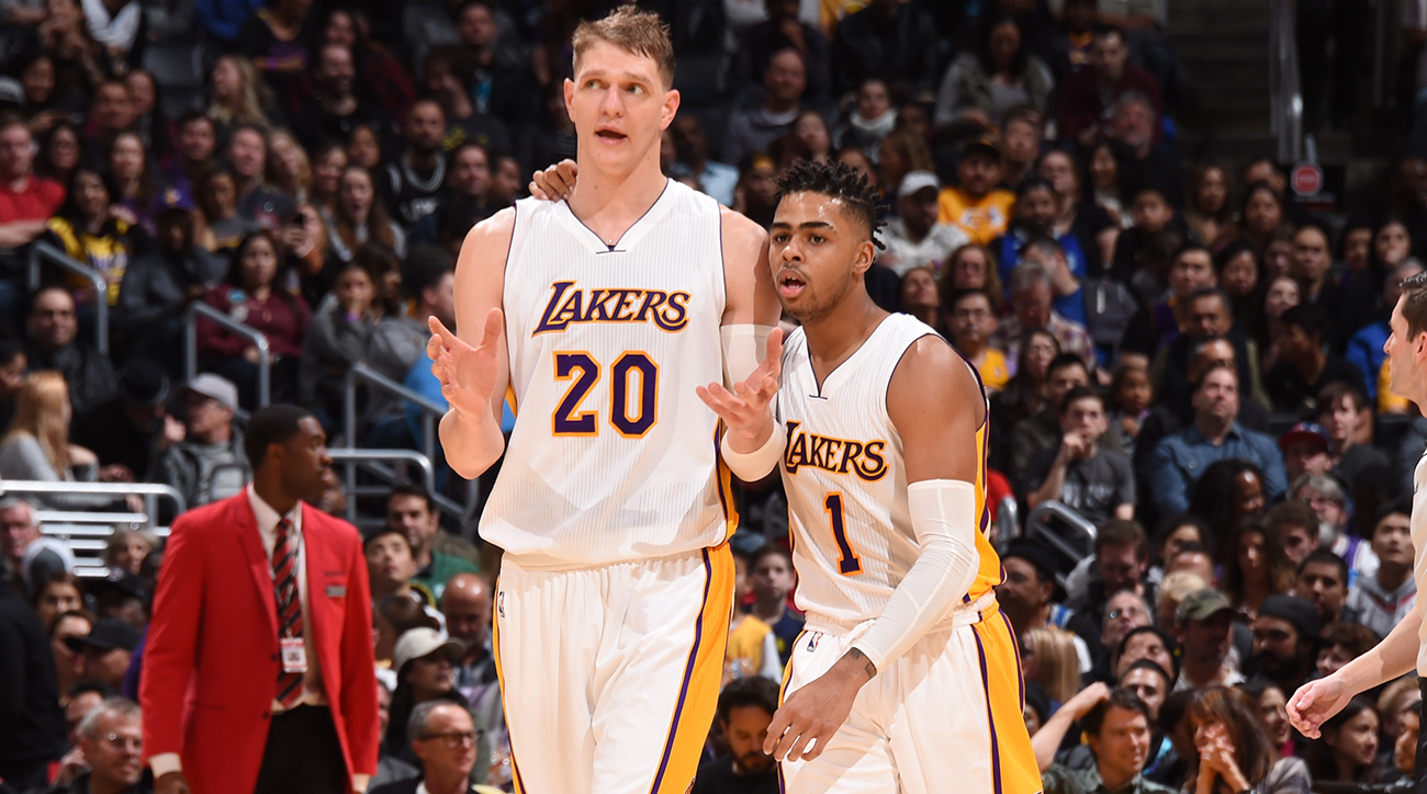 Timofey Mozgov and D'Angelo Russell