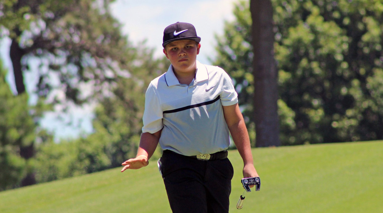 13-year-old John Daly II, son of PGA Tour veteran John Daly.