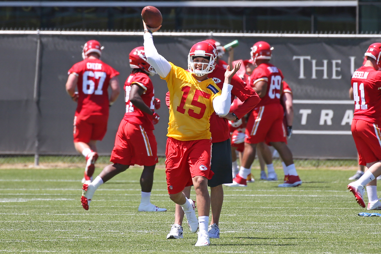 Rookie quarterback Pat Mahomes is not expected to see much playing time for the Chiefs during the regular season.