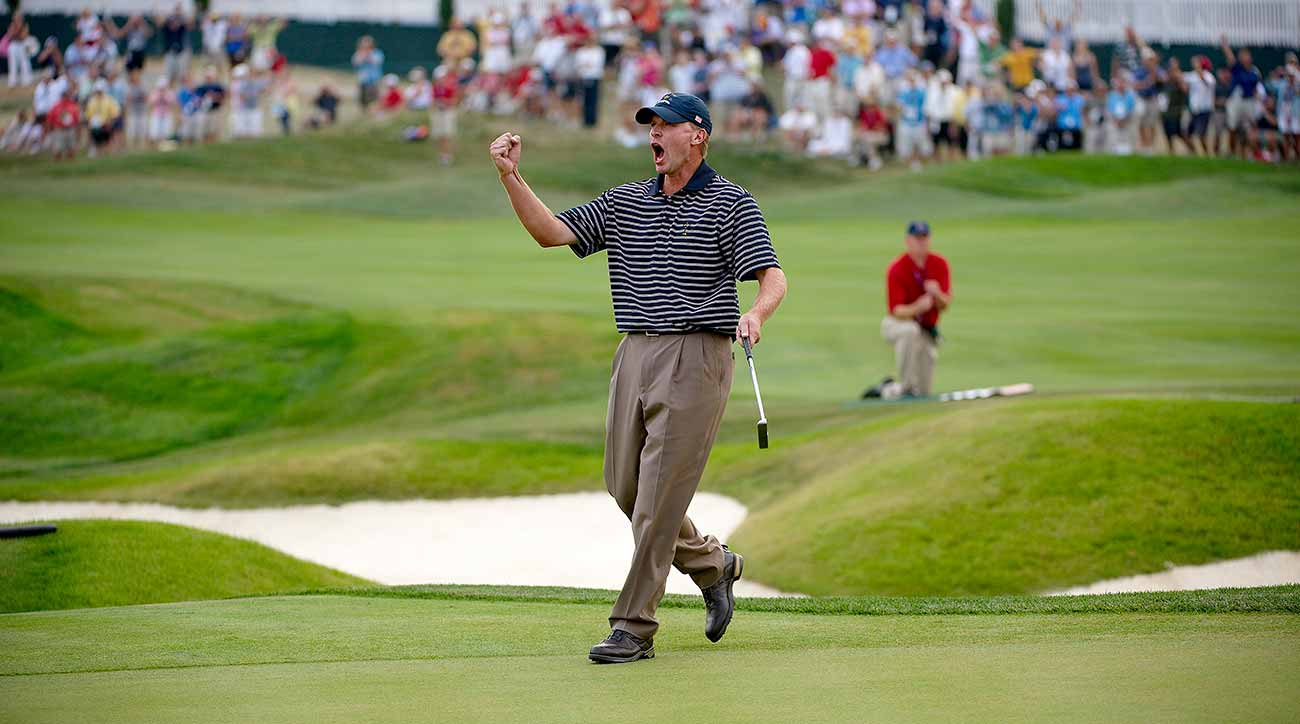 Stricker's first Ryder Cup, in 2008, ended in a runaway win for Team USA.