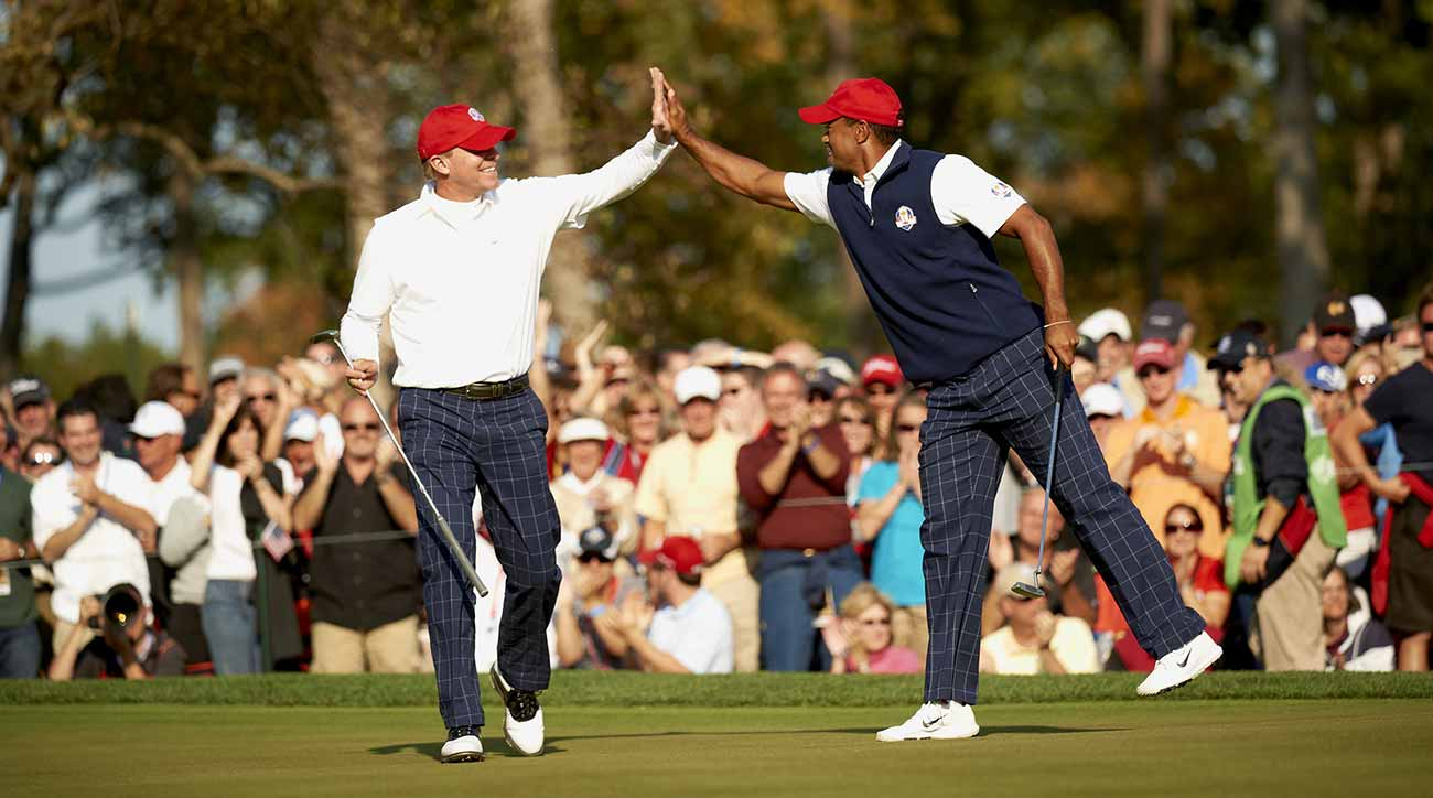 Striker's friendship with Woods blossomed in team events, like the 2012 Ryder Cup.