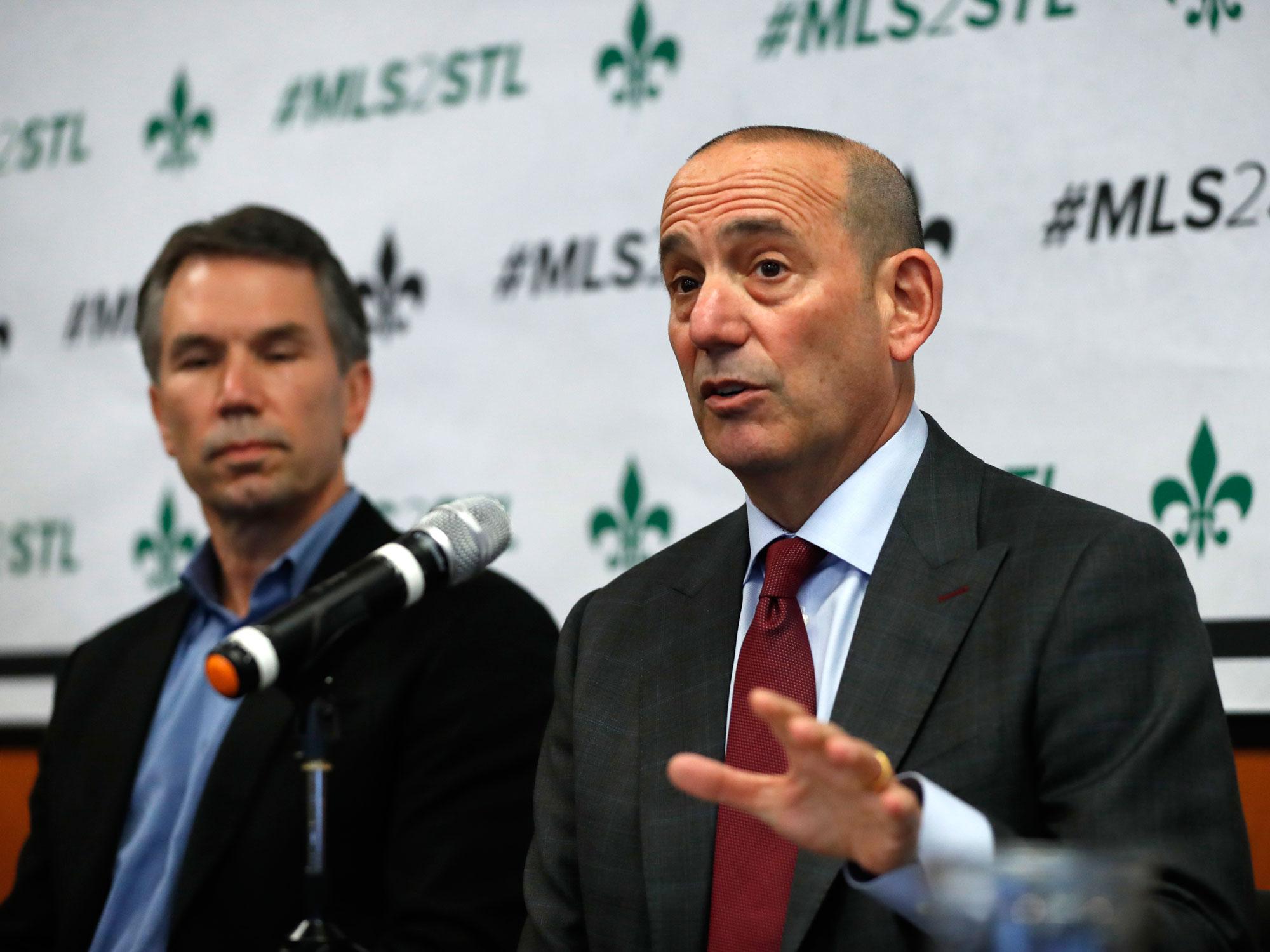 MLS commissioner Don Garber visits St. Louis's MLS expansion bid