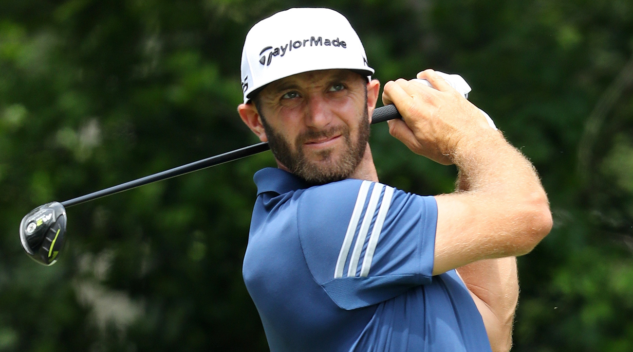 Through July 26, Dustin Johnson leads the PGA Tour in driving distance with an average of 312.1 yards.