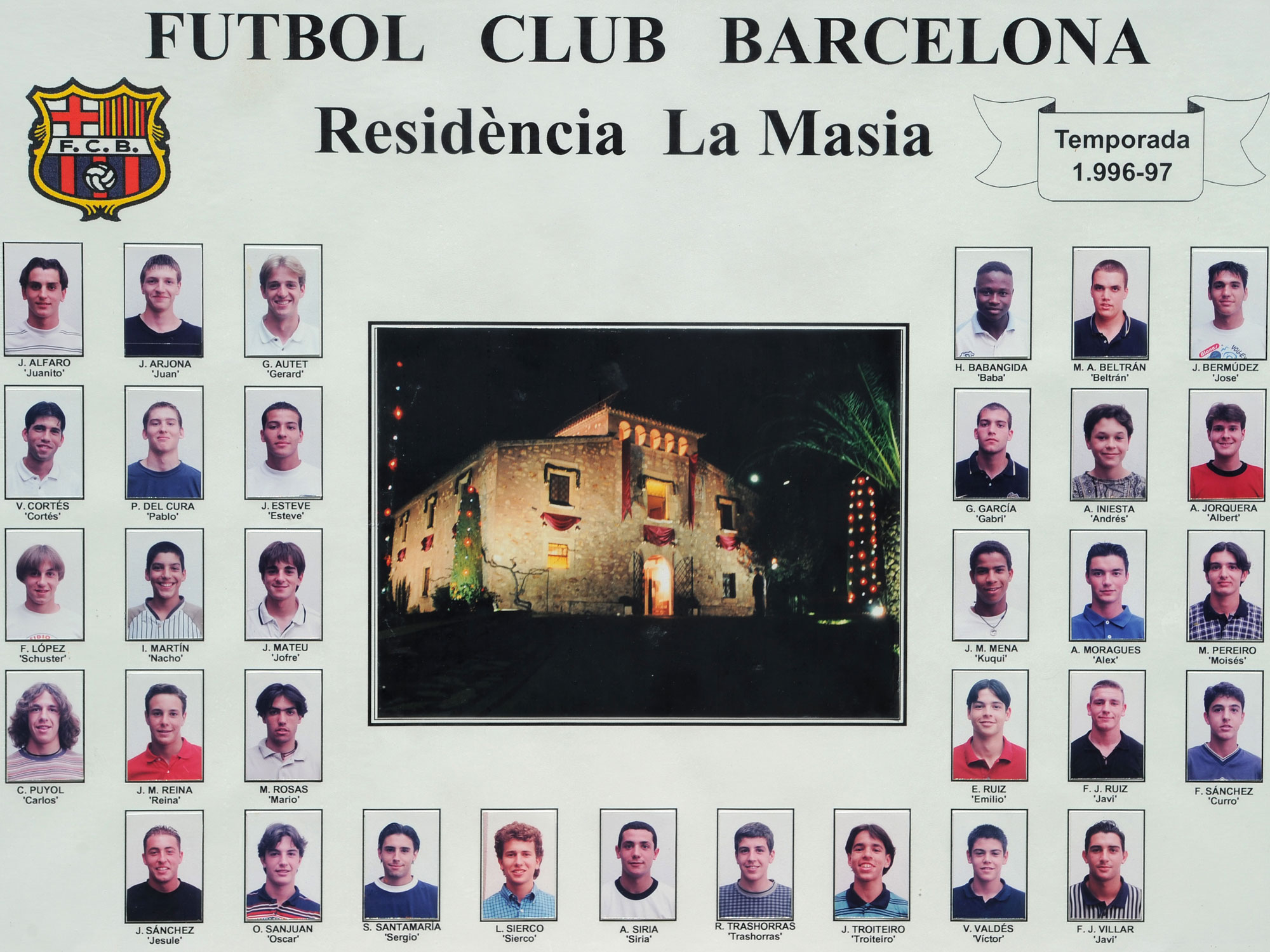 Andres Iniesta and Carles Puyol came through Barcelona's famed La Masia academy
