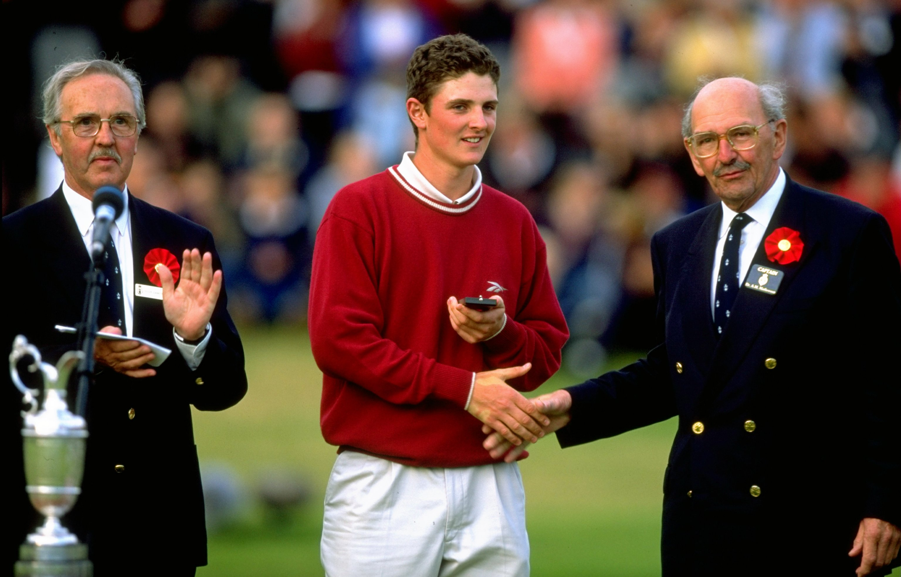 Seventeen-year-old amateur Justin Rose holed his third shot from the fairway at Royal Birkdale in 1998 to finish fourth. The next day he turned professional and proceeded to miss 21 consecutive cuts. He finally broke through at a major when he won the 2013 U.S. Open at Merion.