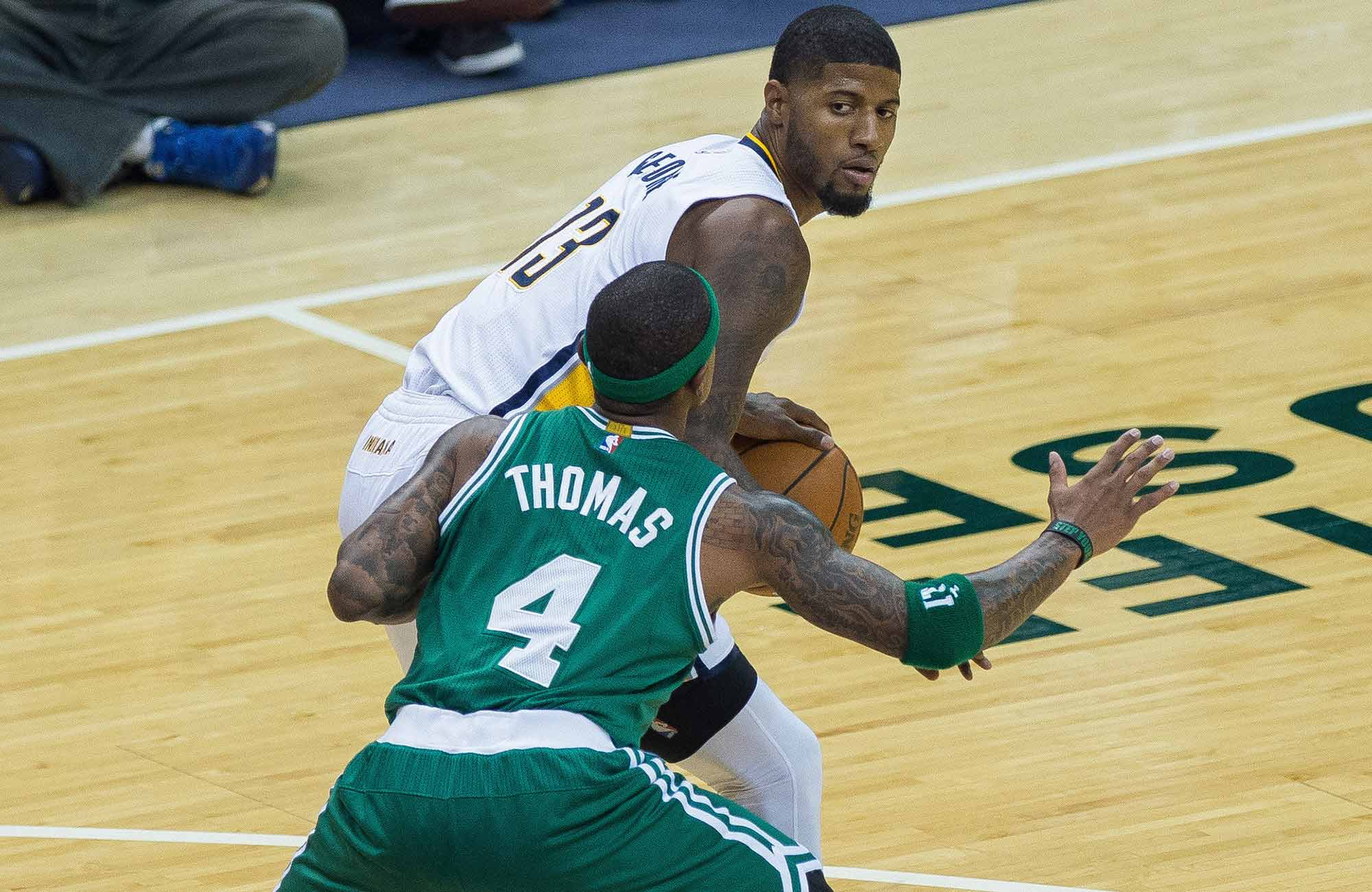 Paul George and Isaiah Thomas