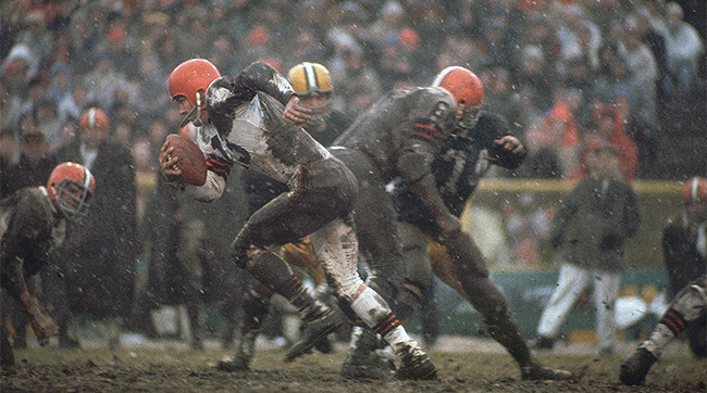 Ryan blames the muddy field in Green Bay for Cleveland's loss in the 1965 NFL Championship game.