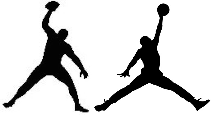 Gronkowski logo vs Jumpman