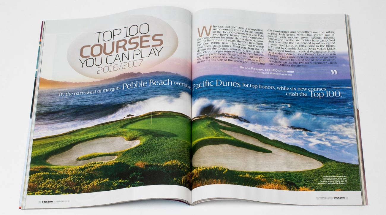 GOLF Magazine's Top 100 Courses You Can Play.