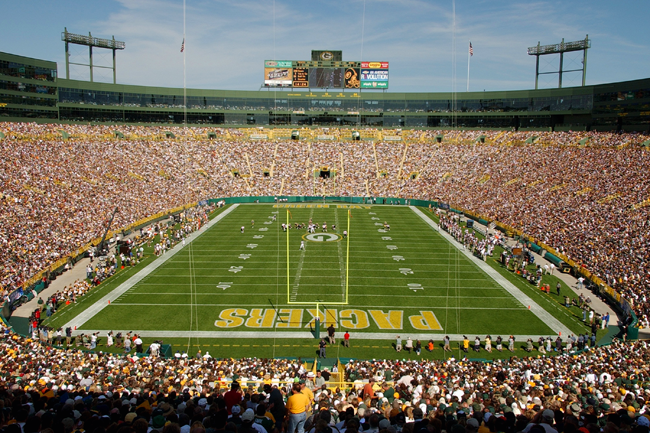 Lambeau Field, home of the Green Bay Packers.