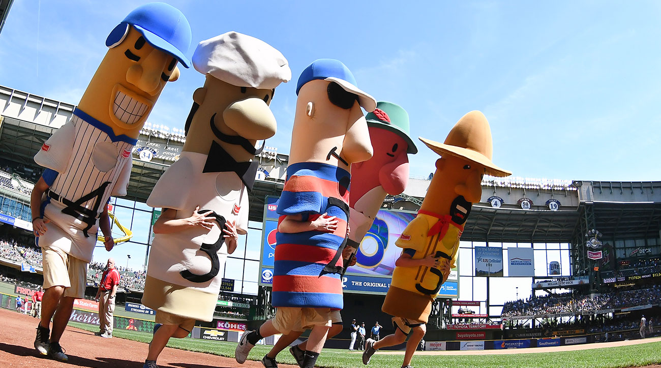 The famous Racing Sausages at Miller Park.