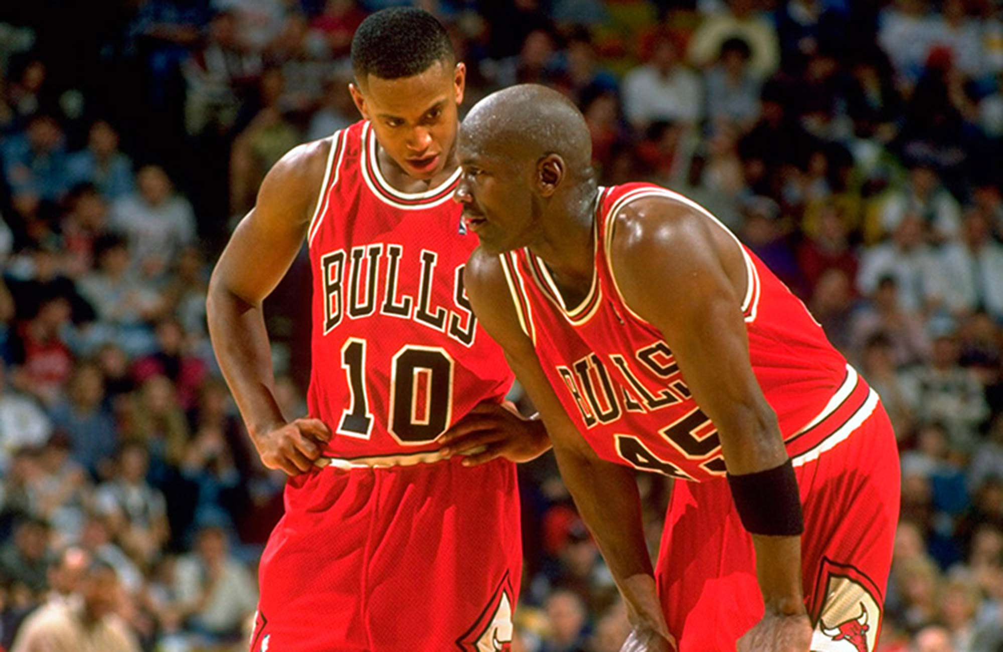 BJ Armstrong and Michael Jordan