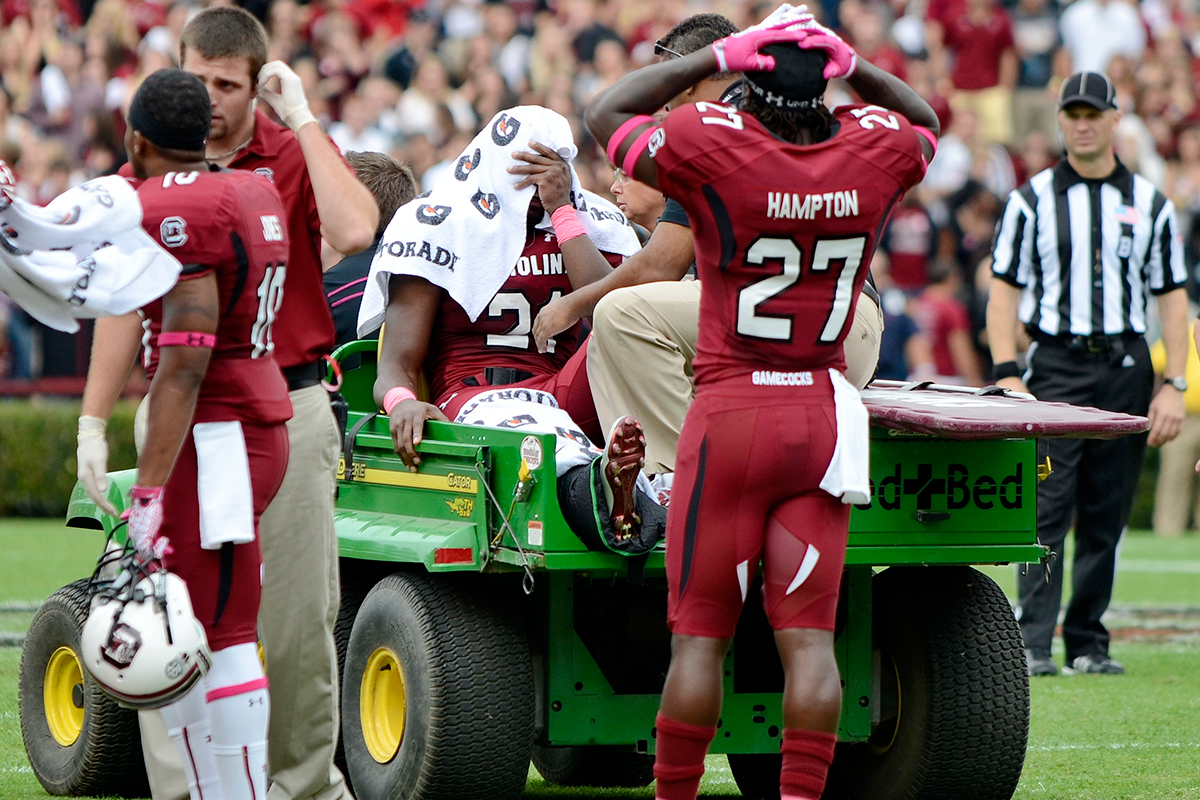 Lattimore's second knee injury, against Tennessee in 2012, shook up the Gamecocks and sent his first-round dreams spiraling.