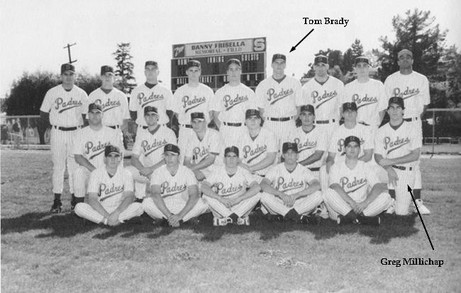 The 1995 varsity baseball team at Serra High in San Mateo, Calif.