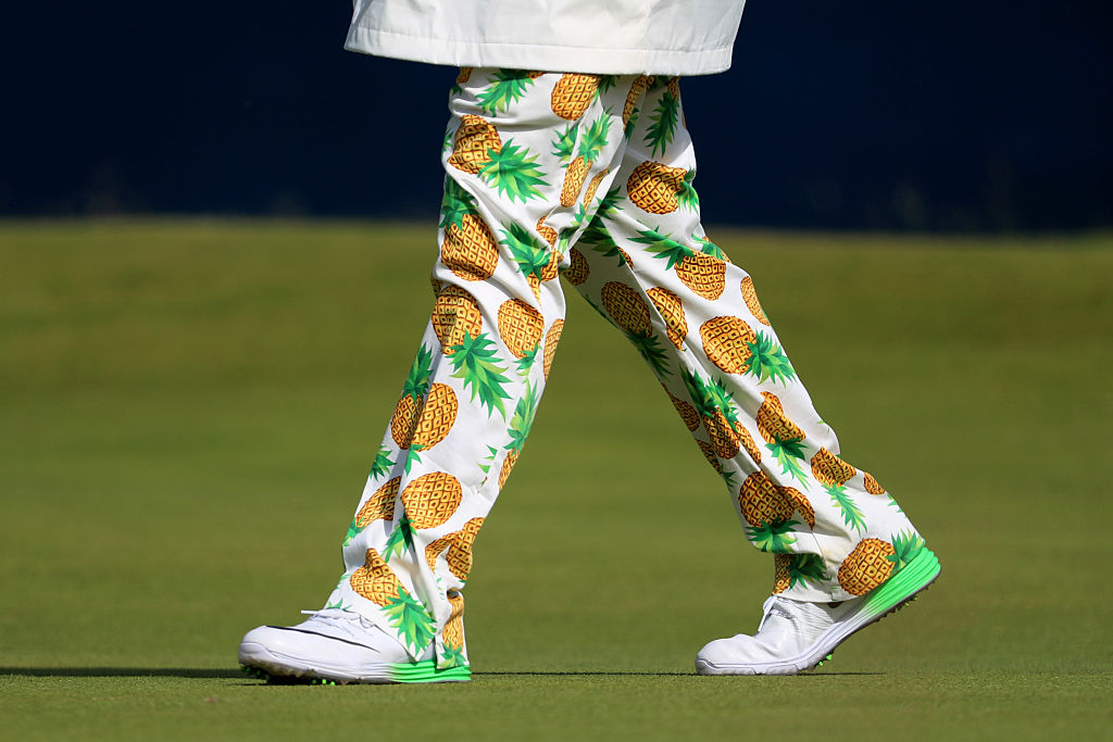 "John Daly (and his ""loudmouth pants"") at the British Open last year."
