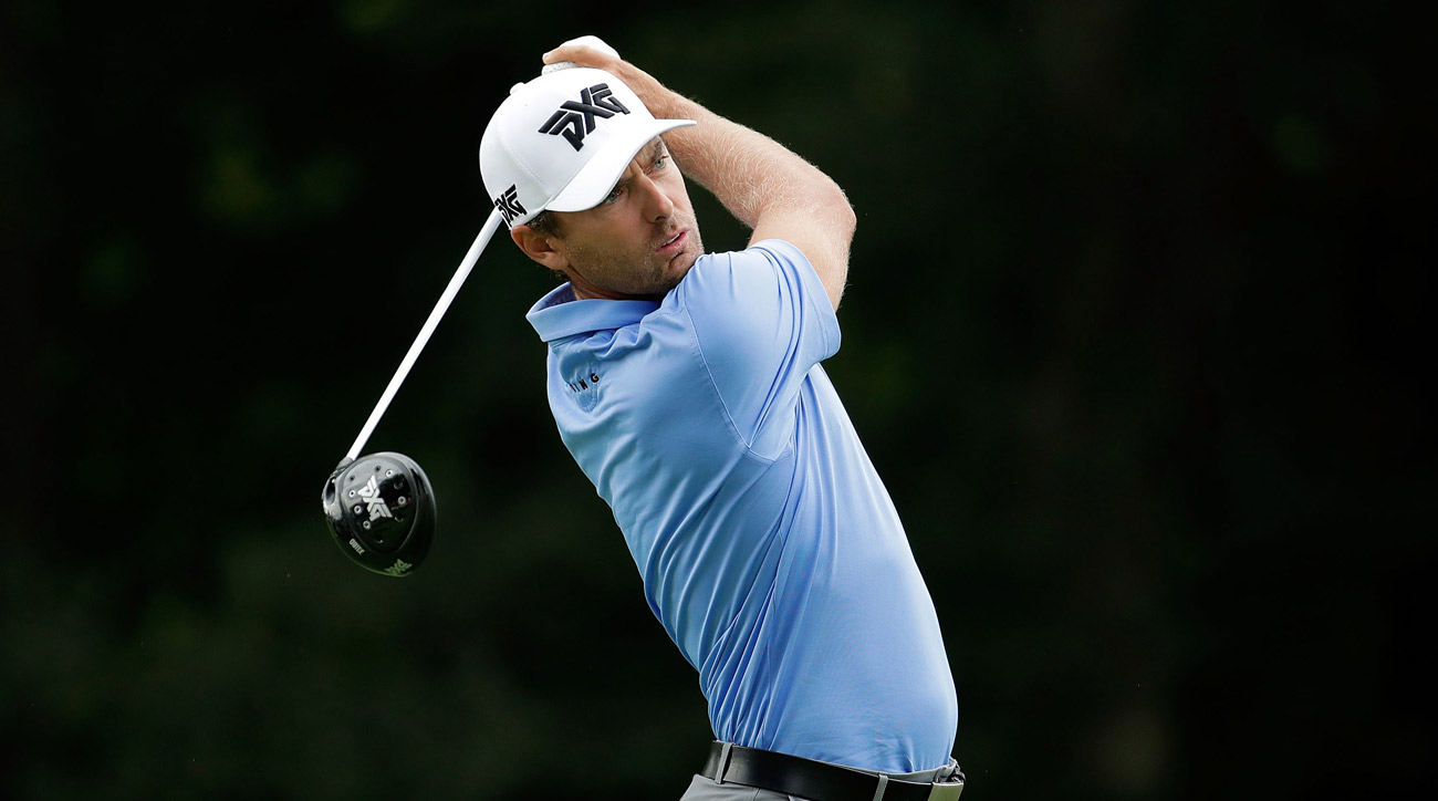 Charles Howell III hits his tee shot on the 13th hole during the first round of the John Deere Classic at TPC Deere Run.