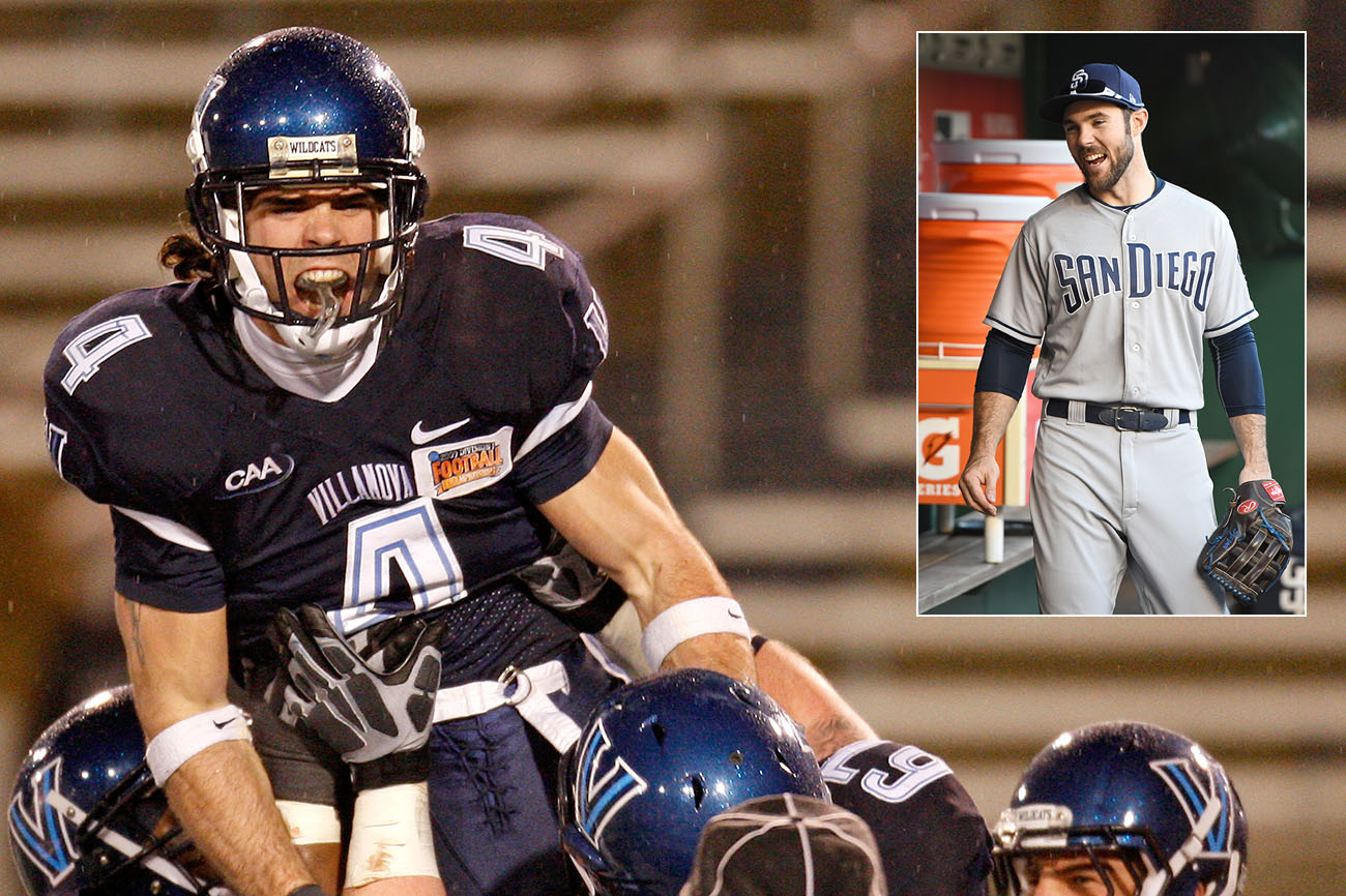 Szczur, a two-sport star at Villanova, was a mid-round NFL draft prospect but chose to go baseball-only in the pros.