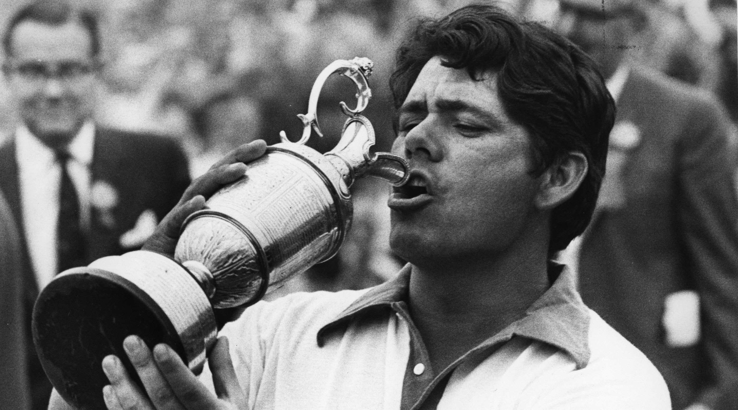 Trevino in the moments after winning the 1971 British Open at Royal Birkdale.