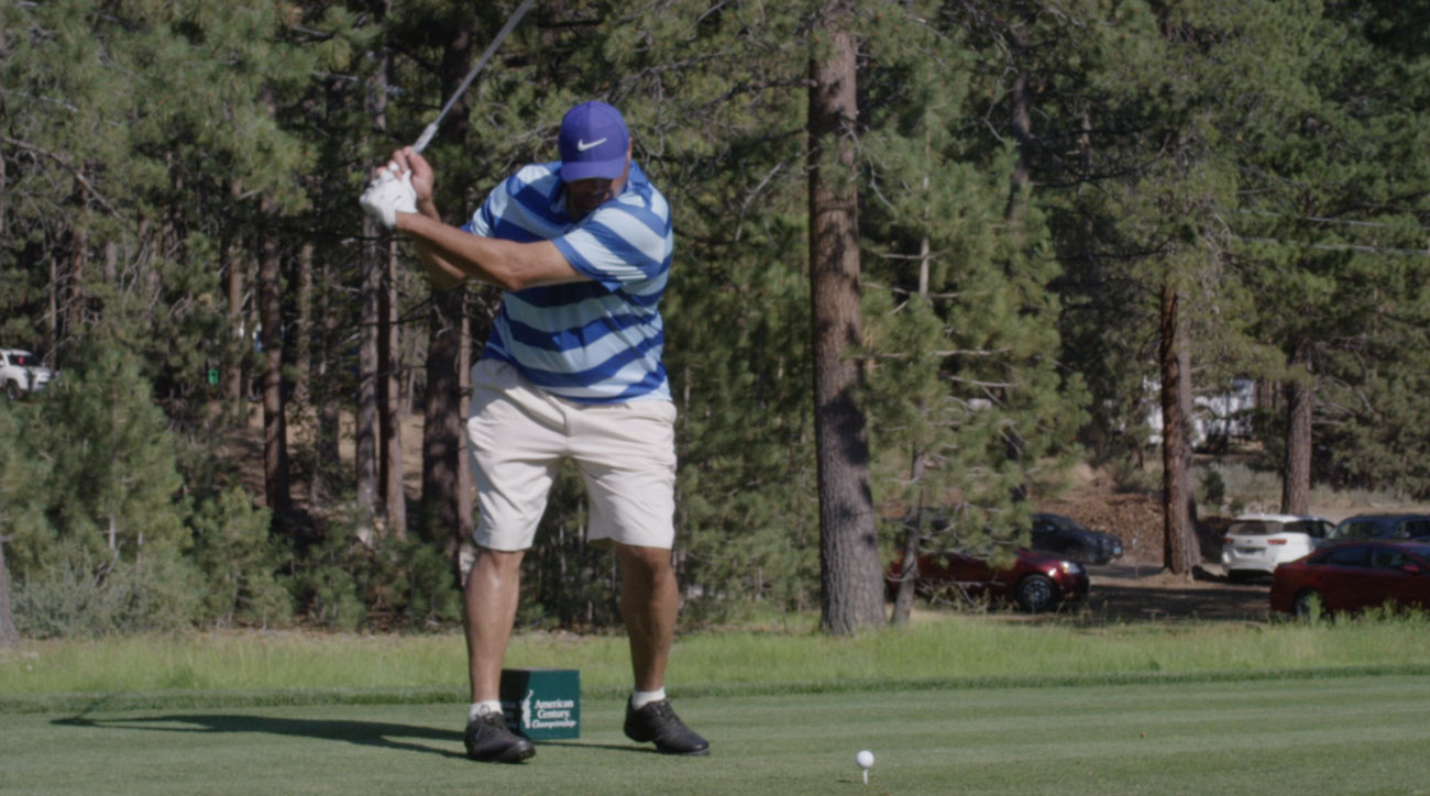 Charles Barkley has a slightly retooled swing this year at the American Century Championship.