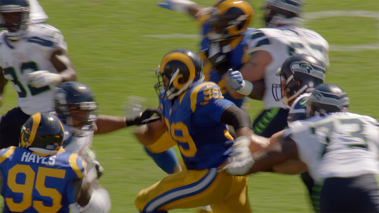Aaron Donald was in the middle of the action throughout the season for the Rams.