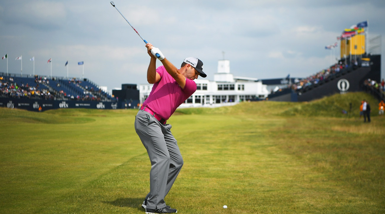 Sergio Garcia plays a practice round at Royal Birkdale in the run-up to the Open Championship.