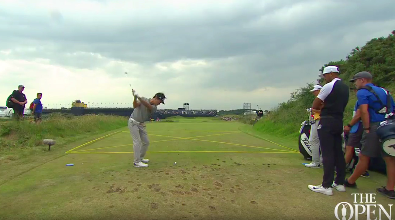 Watch Kevin Na's ace at Royal Birkdale's 14th hole below.