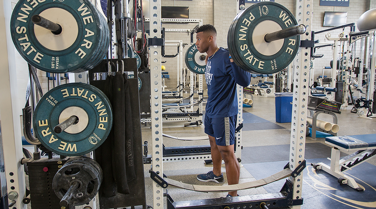 Barkley has doubled his personal best since squatting 300 pounds for the first time as a sophomore in high school.