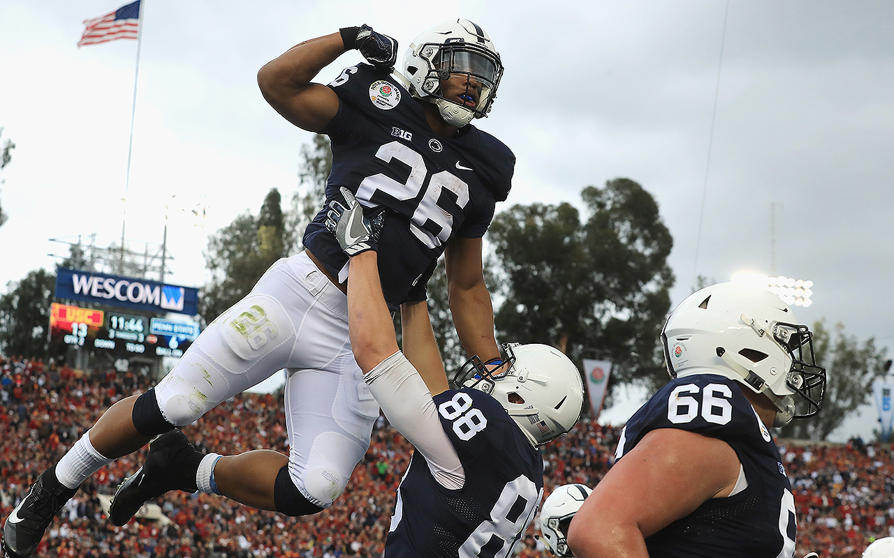 promo code cf7c9 581ad Saquon Barkley: Penn State RB earns Heisman and NFL hype ...