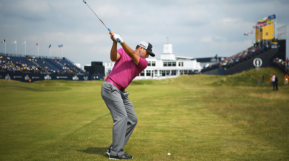 Sergio Garcia practices ahead of the 2017 Open Championship at Royal Birkdale.