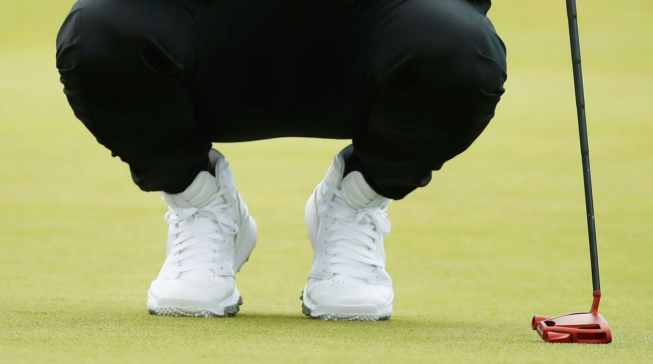 Jason Day rocked Nike high-tops during Round 1 of the 2017 Open Championship.