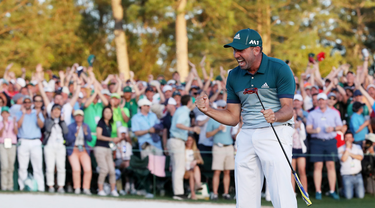 Sergio Garcia was overcome with emotion after winning his first major championship at the Masters this year.