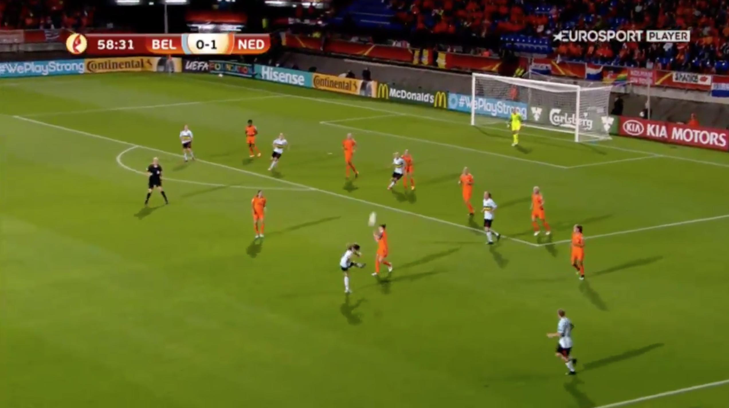 Video: Belgium's Tessa Wullaert Scores Jaw-Dropping Long-Range Goal