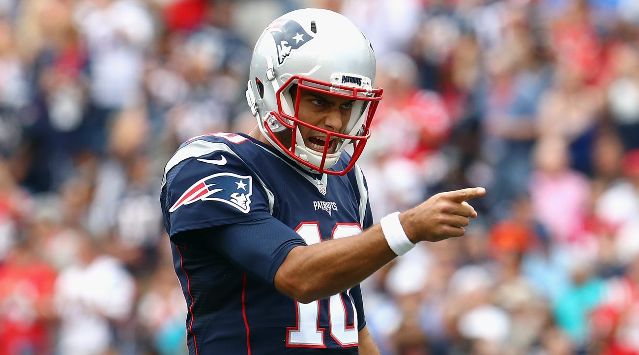 New England Patriots backup quarterback Jimmy Garoppolo.