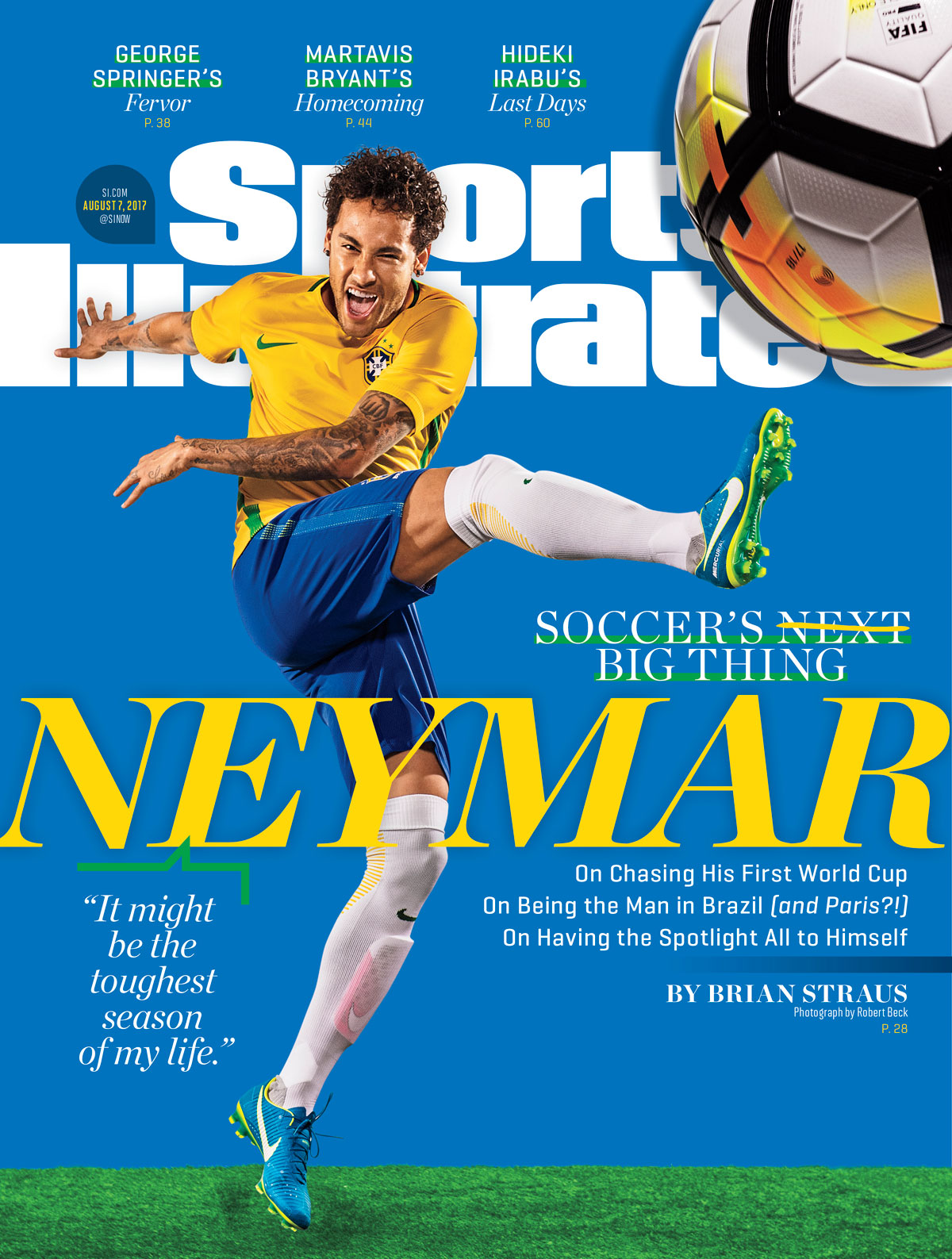 brand new 203a1 a6e43 Neymar is on the cover of Sports Illustrated