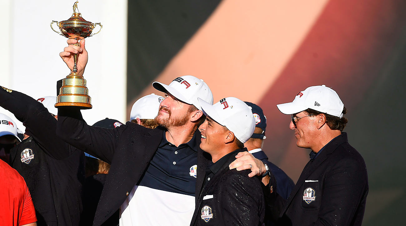 For Walker, nothing beats celebrating a Ryder Cup win with your teammates (like Fowler).