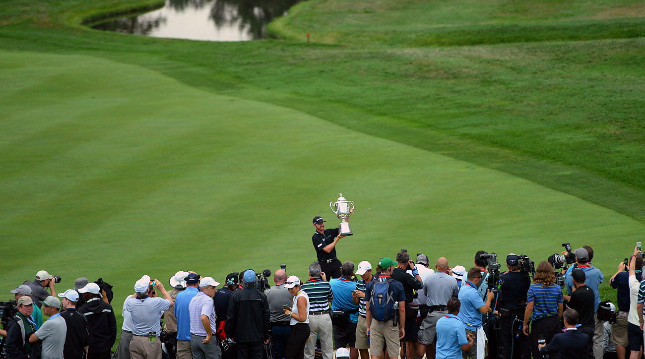Walker raised the Wanamaker at Baltusrol, but only after Jason Day put a scare into him with an eagle on the 72nd hole.