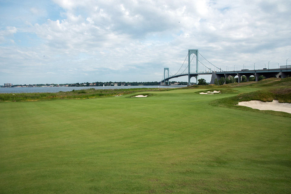 New York City finally has a track to challenge Bethpage Black for public-access state supremacy. This 2015 Jack Nicklaus creation, with John Sanford consulting, is a treeless faux-links, complete with dunes and fescue grasses framing the fairways and options around the greens. Most memorable, however, are the Gotham visuals, from the Whitestone Bridge to the East River to the Manhattan skyline.