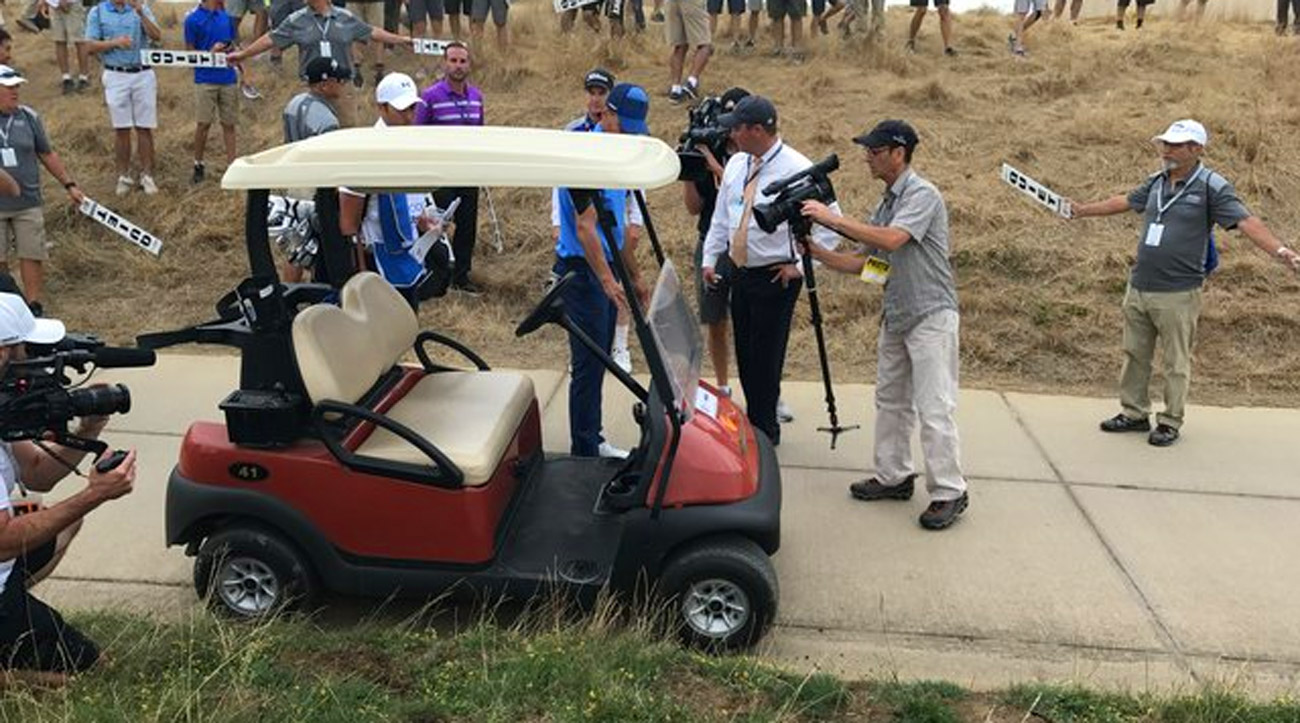 Curry's first drive of the day ended up in a very unlikely place.