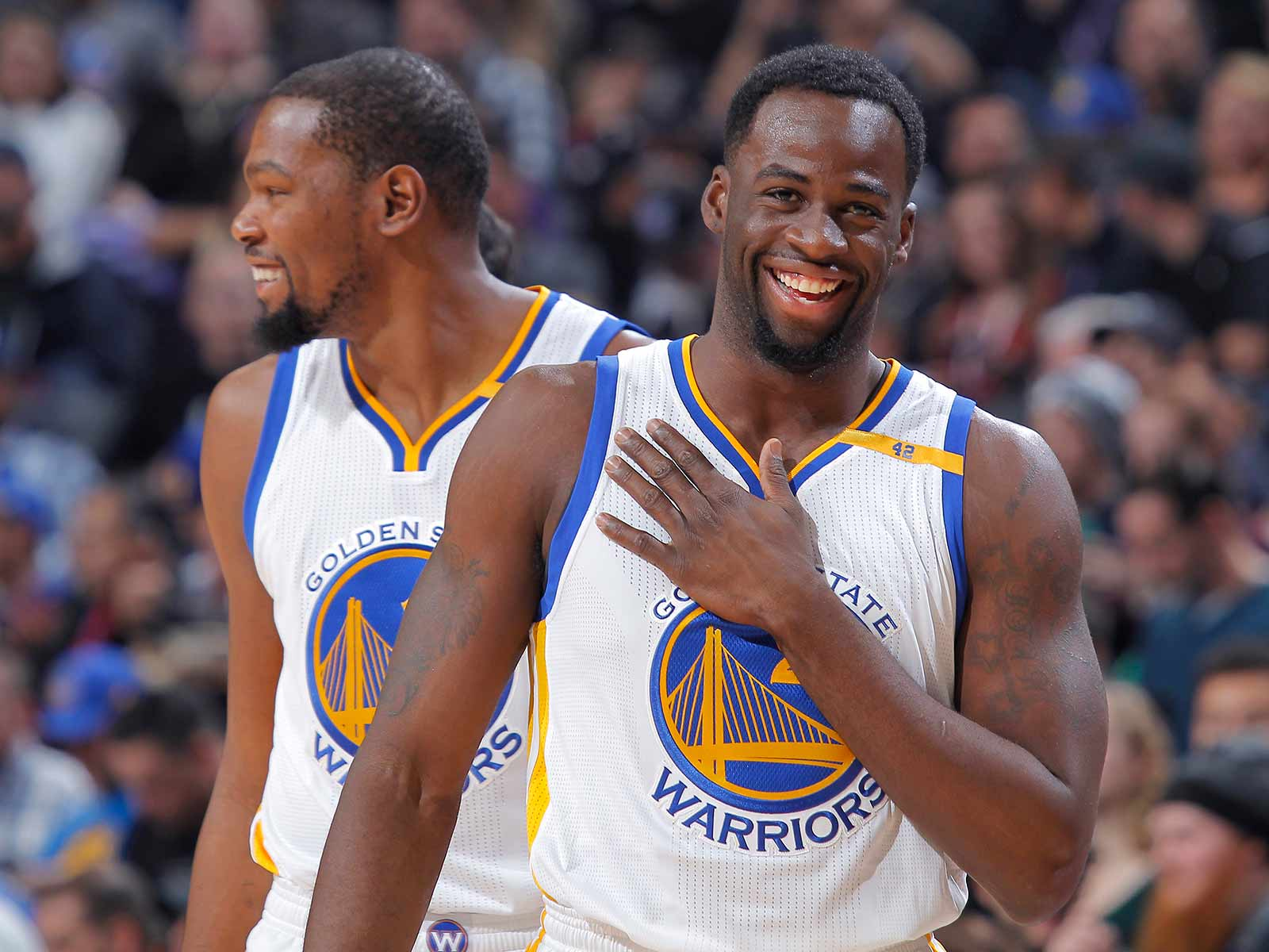 Draymond and Kevin Durant