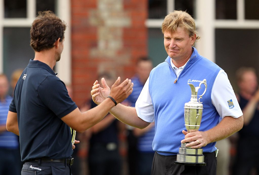 Adam Scott's dramatic collapse at the 2012 British Open made Ernie's win--his fourth and most recent major--bittersweet.