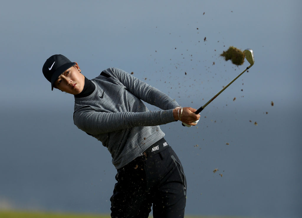 Wie is 8 under after the first round of the Women's British Open at Kingsbarns.