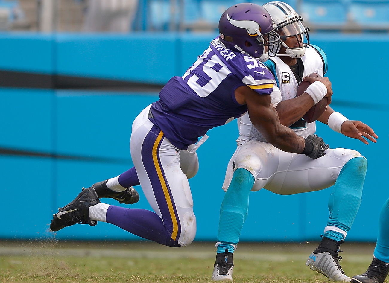 Danielle Hunter had 12.5 sacks last season despite not starting any games for the Vikings.