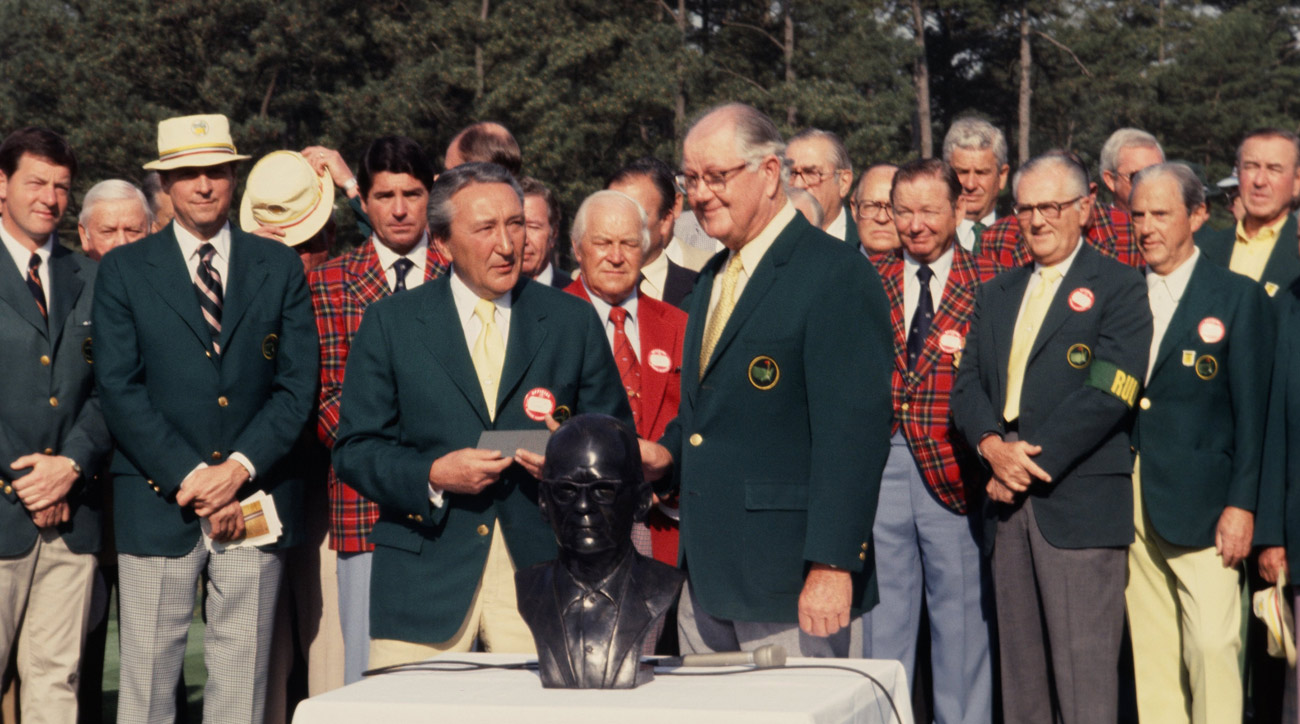 Byron Nelson and Augusta National Chairman Bill Lane at the 1978 Masters.