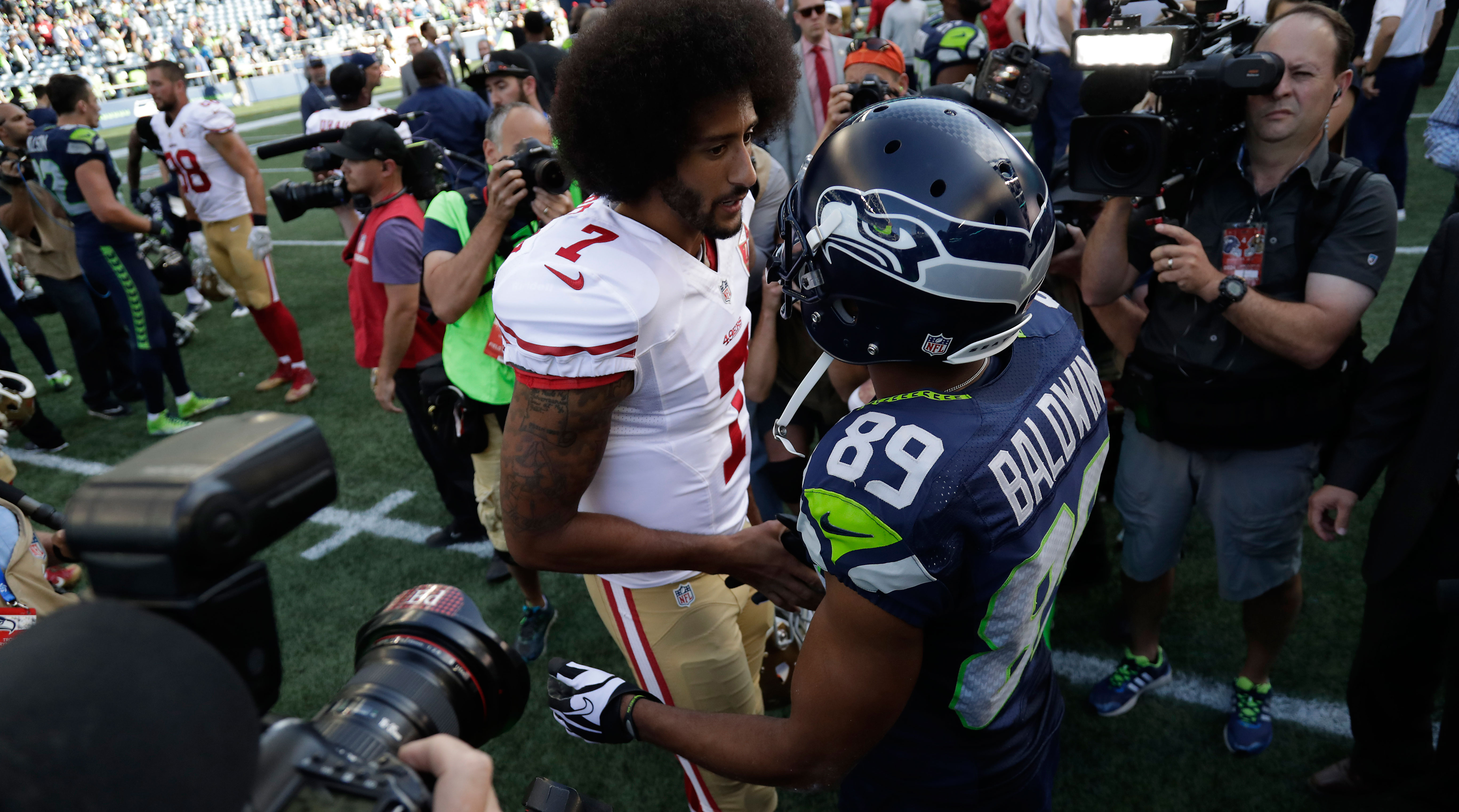 Doug Baldwin Colin Kaepernick freeze out a message from owners