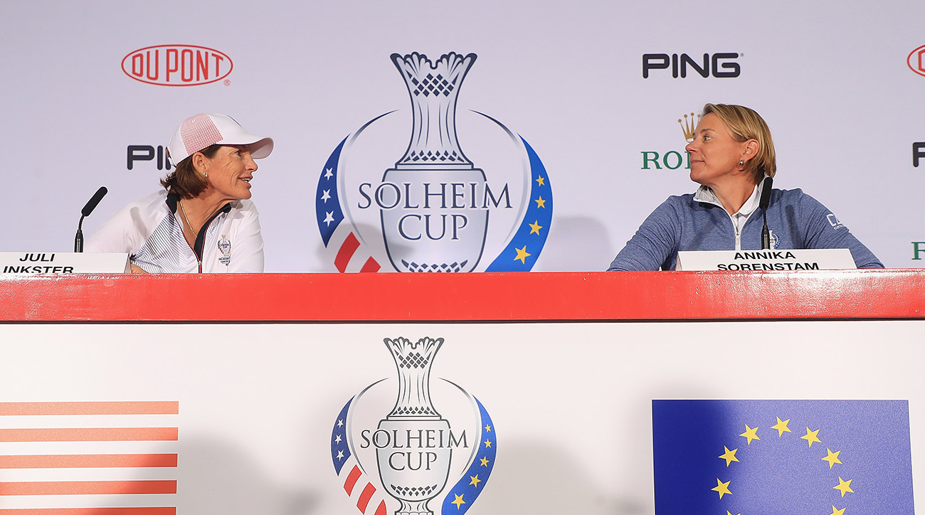 U.S. captain Juli Inkster (left) and Europe captain Annika Sorenstam finalized their Solheim Cup teams Sunday.