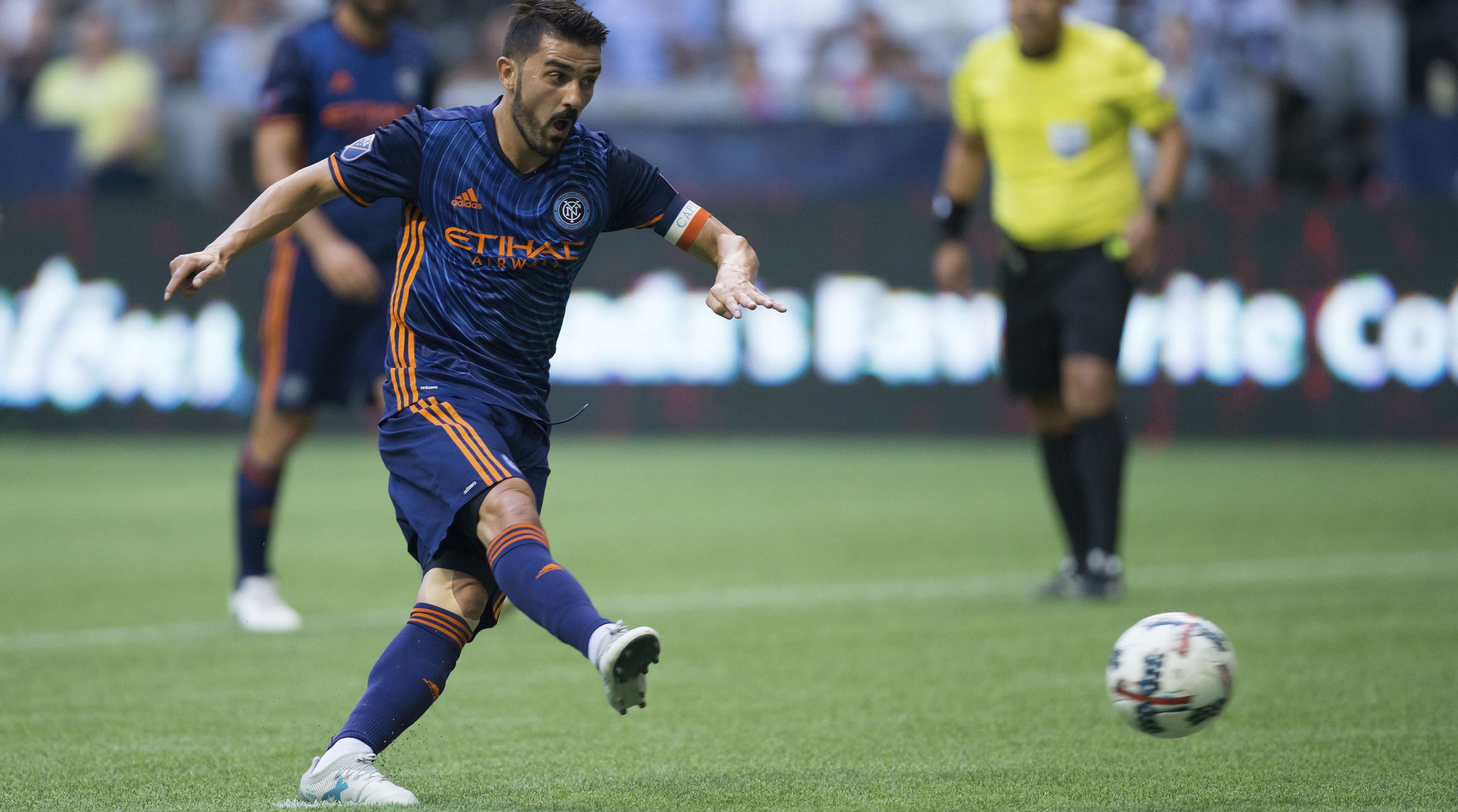 MLS roundup David Villa s first hat trick powers NYCFC