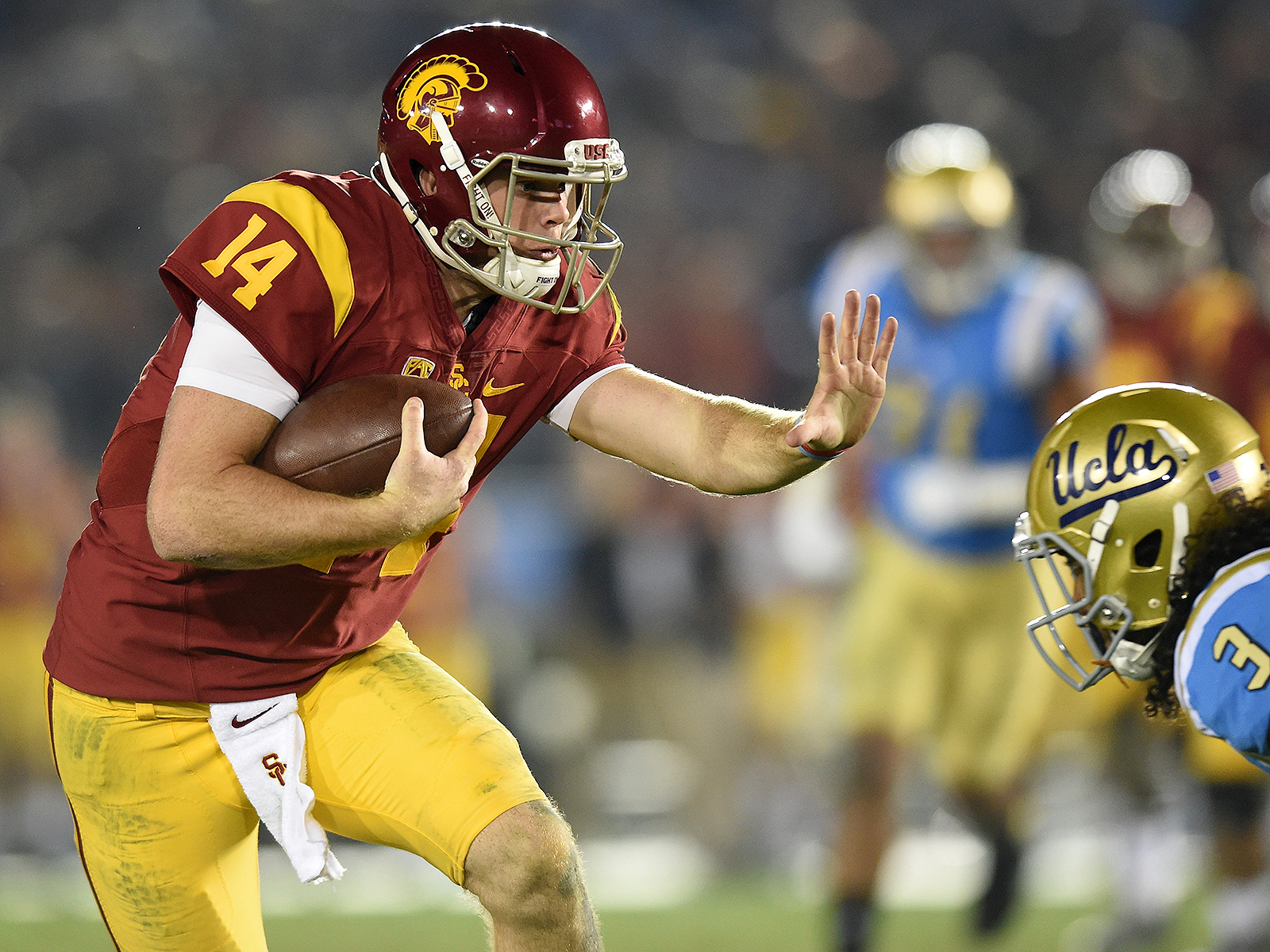 Image result for Sam Darnold Rushing