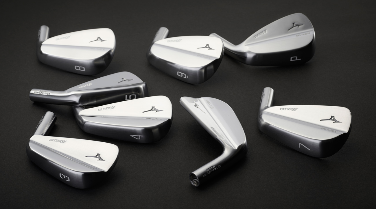 The new Mizuno MP-18 irons.