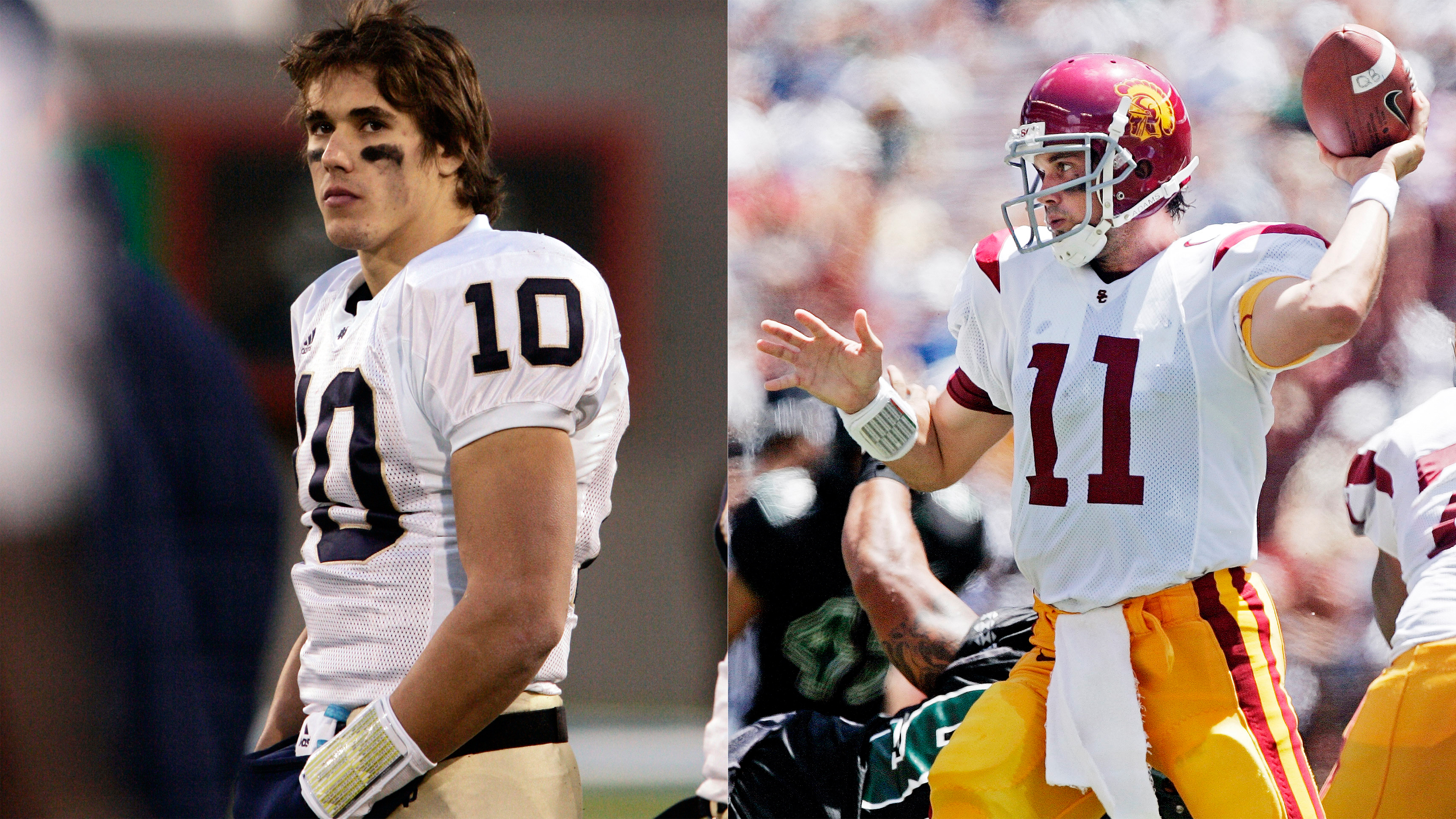 Matt Leinart and Brady Quinn got into it over Twitter and Quinn said Leinart cheated in USC's win over Notre Dame