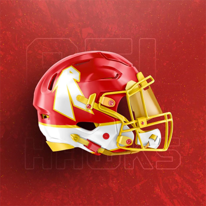 Hawks helmet one